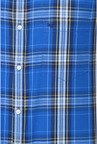 Peter England Blue Checks Slim fit Casual Shirt