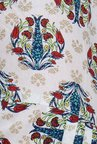 Aurelia White & Blue Printed Patiala