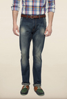 Peter England Blue Solid Jeans