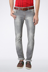Peter England Grey Solid Jeans