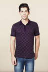 Van Heusen Purple Printed T Shirt
