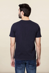Van Heusen Navy Graphic Printed T Shirt