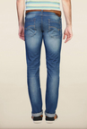 Van Heusen Blue Solid Cotton Jeans