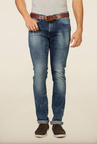 Van Heusen Blue Solid Low Rise Jeans