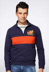 Peter England Navy Printed Sweatshirt