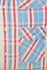 People Blue Checks Casual Shirt