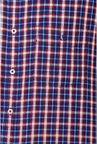 Van Heusen Navy Checks Cotton Shirt