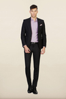 Van Heusen Black Solid Suit
