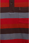 Van Heusen Red & Grey Striped T Shirt