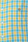Van Heusen Yellow Checks Casual Shirt