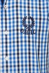 University Of Oxford Blue Checks Casual Shirt