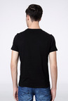 Van Heusen Black Graphic Crew T Shirt