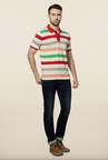 Van Heusen Multicolor Striped Polo T Shirt
