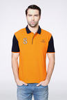 Van Heusen Orange Solid Polo T Shirt