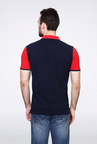 Van Heusen Navy Solid Polo T Shirt