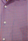 Peter England Red & Blue Checks Formal Shirt