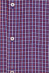 Peter England Blue & Red Checks Formal Shirt