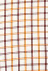 Turtle Orange Checks Formal Shirt