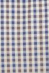 Cottonworld Brown & Blue Checks Casual Shirt