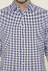 Cottonworld Navy Checks Casual Shirt