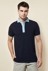 Cottonworld Ink Solid Polo T Shirt