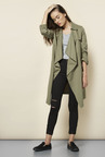New Look Olive Waterfall Duster Coat
