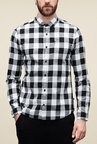 s.Oliver White & Black Checks Shirt