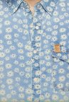Spykar Blue Floral Printed Casual Shirt