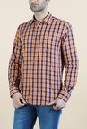 Parx Orange & Blue Checks Shirt