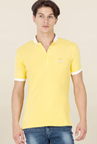 Mufti Yellow Solid T Shirt