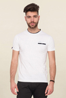 Mufti White Solid T Shirt