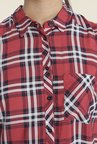 Only Red Checks Casual Shirt