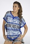 Fusion Beats Blue Printed Top