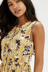Oasis Yellow Skater Dress