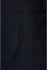 Van Heusen Navy Solid Formal Trouser