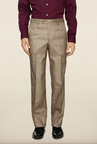 Van Heusen Beige Solid Formal Trouser