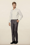 Van Heusen Grey Solid Formal Trouser
