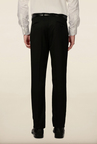 Peter England Black Solid Formal Trouser