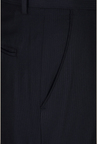 Peter England Navy Solid Formal Trouser