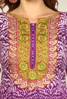 Yepme Purple & Green Rosabelle Unstitched Suit Set