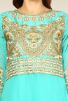 Yepme Turquoise Sakeena Unstitched Suit Set