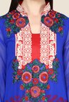 Yepme Blue Barabal Unstitched Suit Set