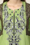 Yepme Green Nuzen Semi Stitched Pakistani Kurti Set
