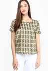 Only Beige Printed Top