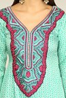 Yepme Rosabelle Green Unstitched Suit Set