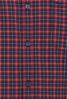 Basics Mars Red Tartan Checked Slim Fit Oxford Shirt