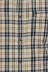 Basics New Wheat Twill Checked Slim Fit Shirt