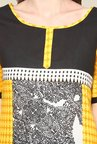 Yepme Lois Yellow & Black Salwar Kameez Set
