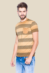 Mufti Khaki Slim Fit Round Neck T Shirt