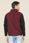 Mufti Maroon Slim Fit Jacket